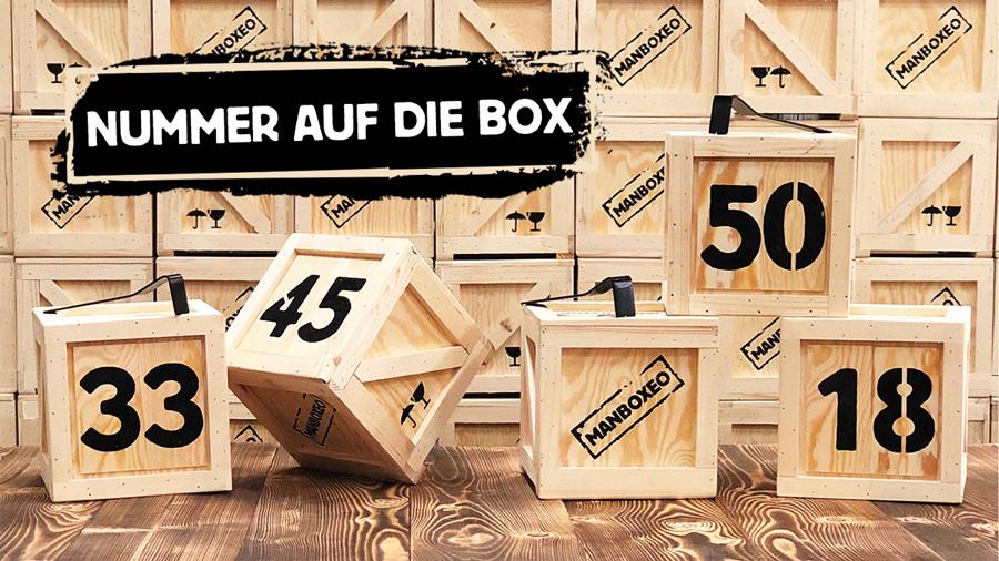 Nummer auf die box