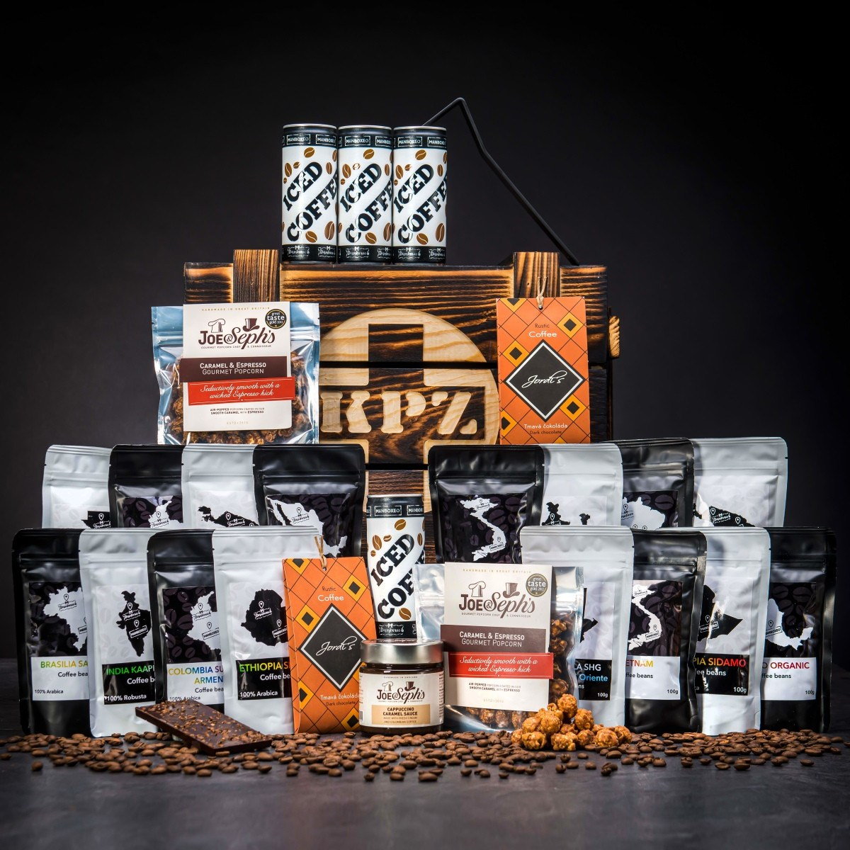 Bedna KPZ plná kávy