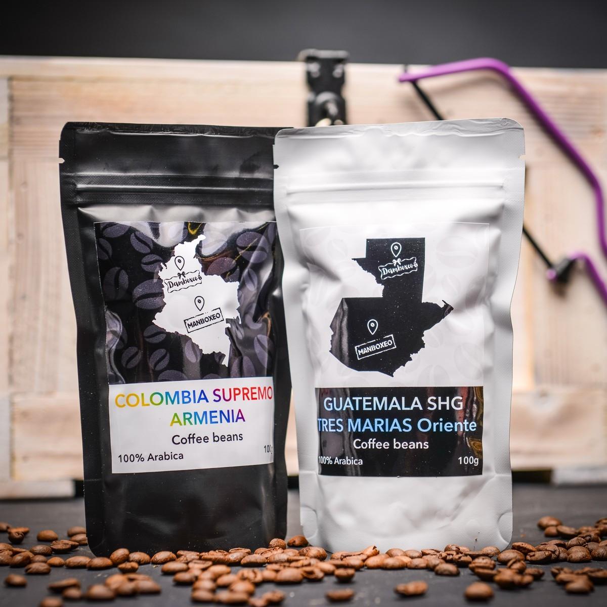 kavova zrna collumbia supremo armenia Guatemala SHG Tres Marias Oriente 100% Arabica 100 g.JPG