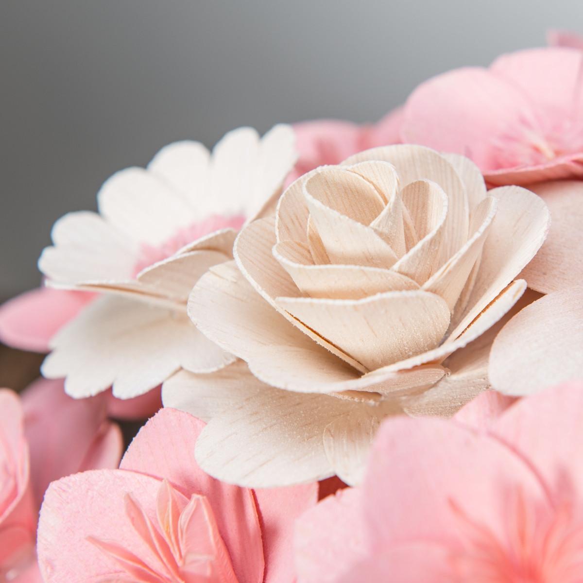 Malá kytice růžová – 21 ks