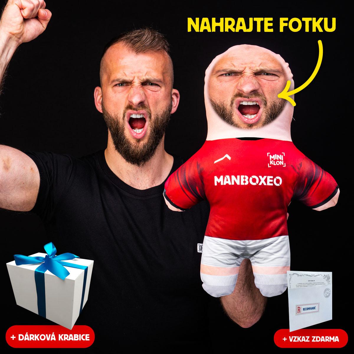 MiniKlon Rudý fotbalista v dárkové krabici