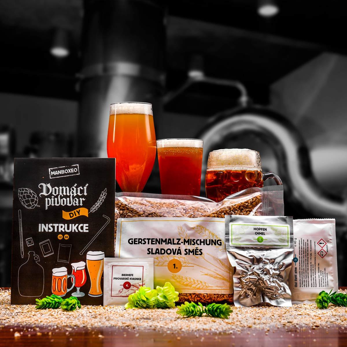 Sada ingrediencí pro domácí pivovar