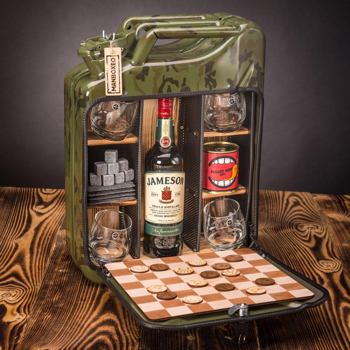 Dočasný Whisky Manboxeo Bar Khaki maskáč – Padací most II.