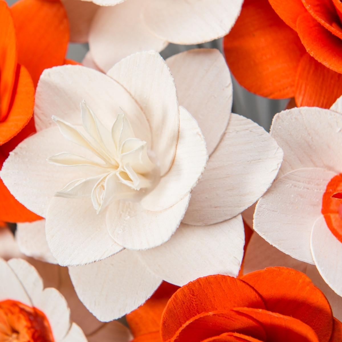 Velká kytice oranžová – 33 ks
