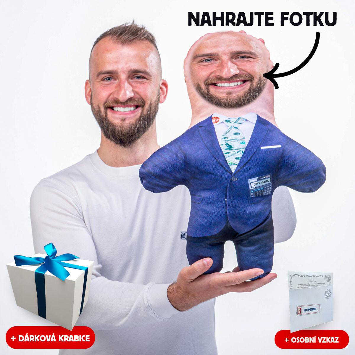 MiniKlon Úspěšný businessman v dárkové krabici