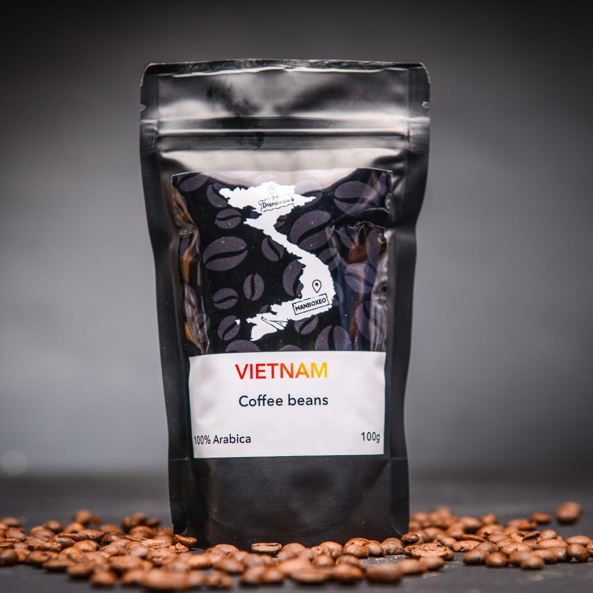 Set kávy India, Vietnam, Etiopie a Brasilia