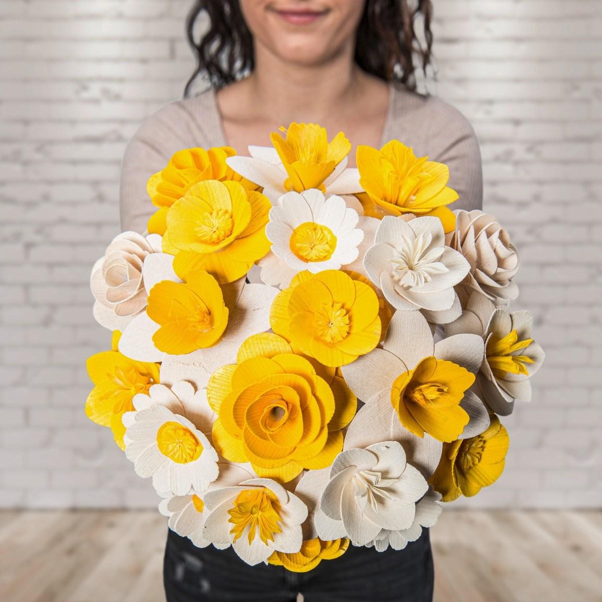 Malá kytice žlutá – 21 ks