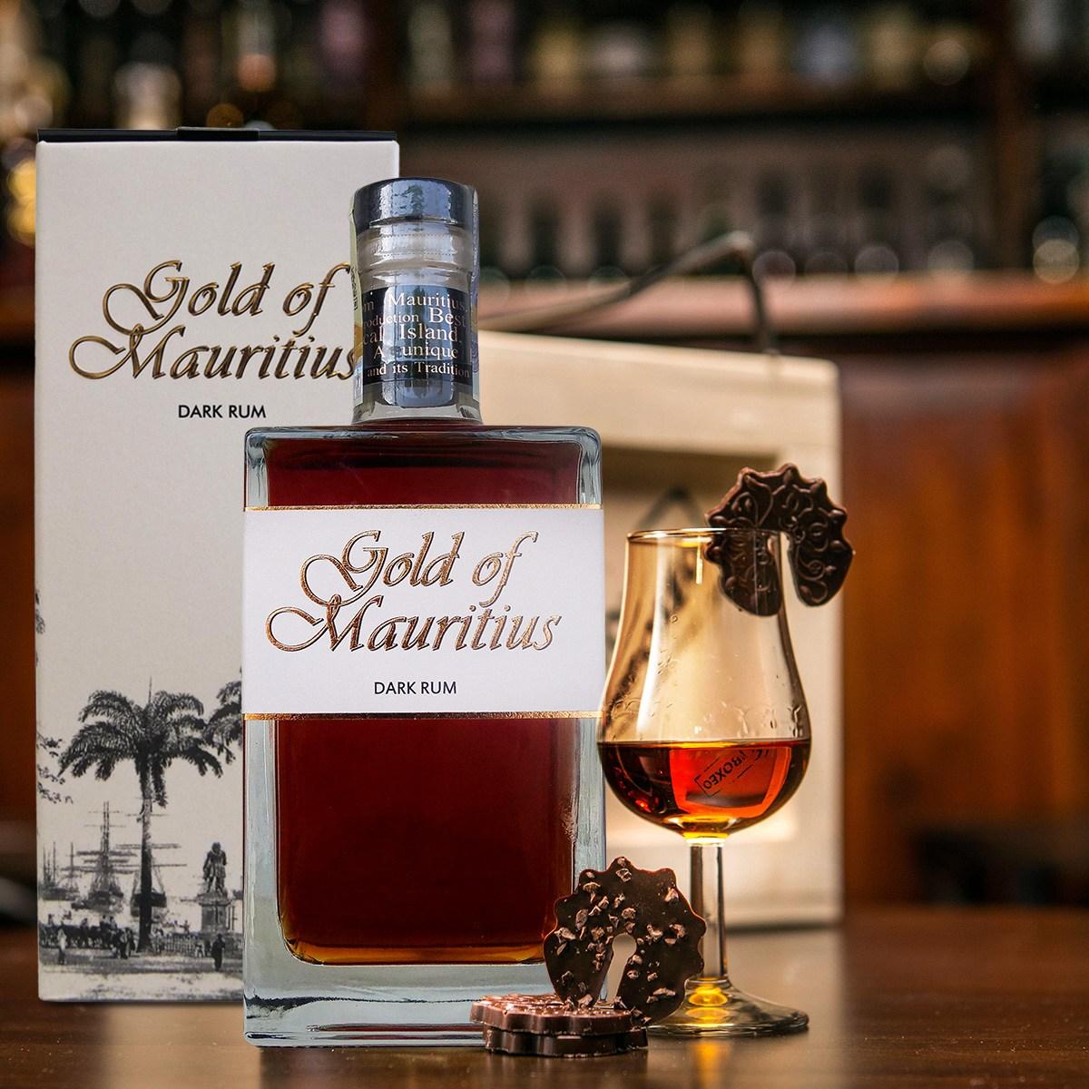 Bedna s rumem Gold of Mauritius