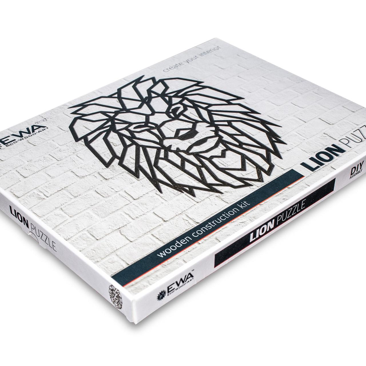 Designové nástěnné puzzle - Lion
