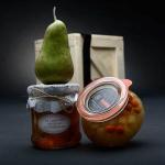 Medová chuťovka se sušenými hruškami a hruškovicí