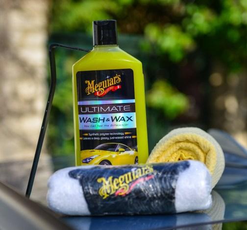 Mycí šampon, rukavice a ručník