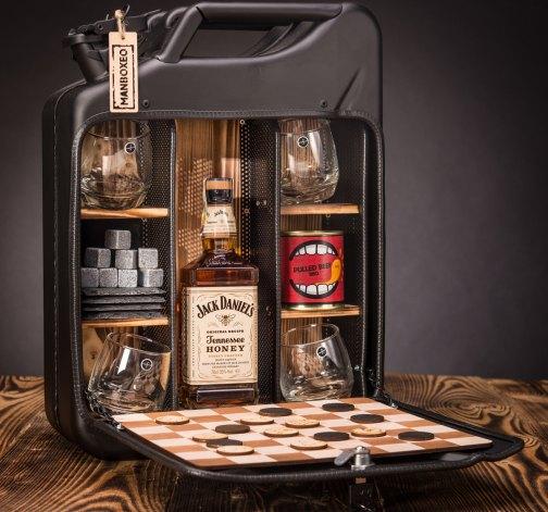 Dočasný Whisky Manboxeo Bar Černý mat – Padací most