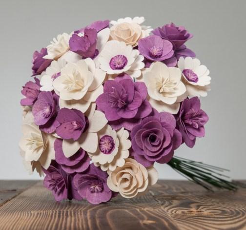 Velká kytice fialová – 33 ks