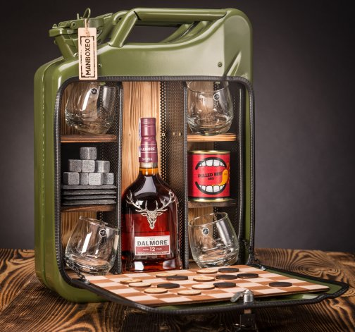 Dočasný Whisky Manboxeo Bar Khaki – Padací most