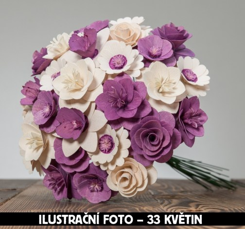 Malá kytice fialová – 21 ks