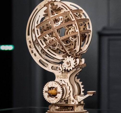 Dřevěný skládací 3D model - Kinetic Globe