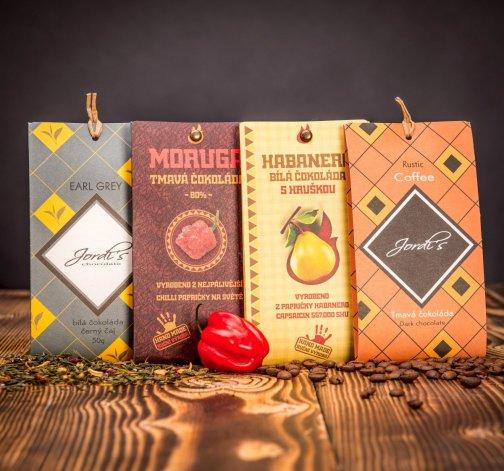 Set čokolád v neobvyklých příchutích