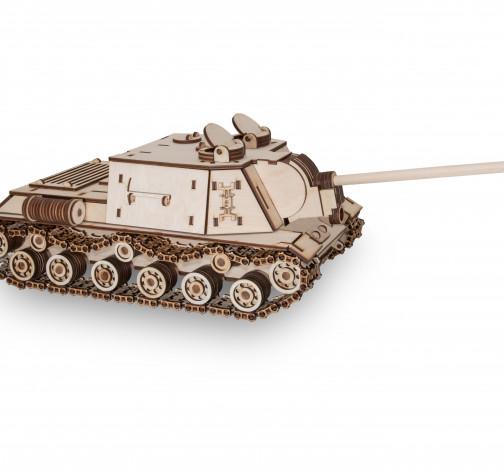 Dřevěný skládací 3D model - Tank ISU-152