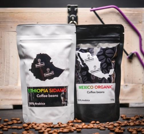 kavova zrna Ethiopia Sidamo 100% Arabica 100 g Mexico Organic 100% Arabica 100 g.JPG