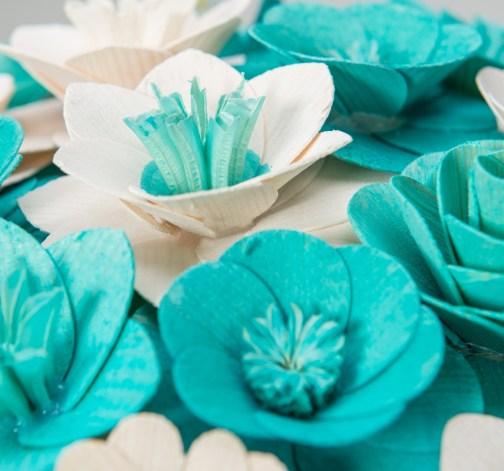 Malá kytice modrá – 21 ks