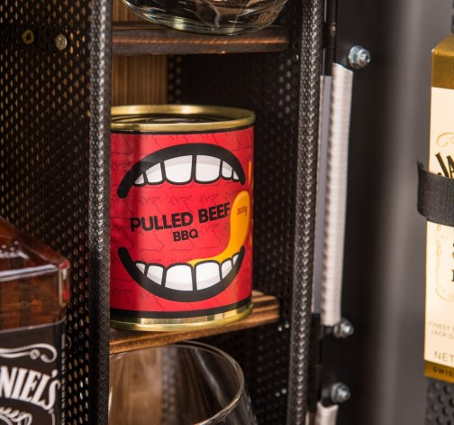 Dočasný Whisky Manboxeo Bar Chrom