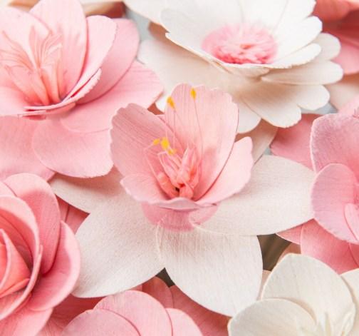 Velká kytice růžová – 33 ks