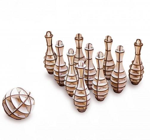 Dřevěný skládací 3D model - Bowling Mini