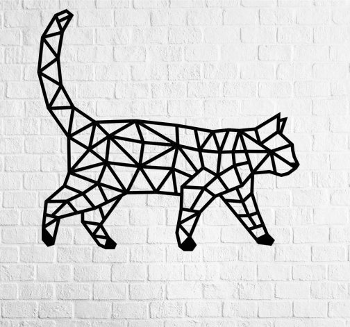 3D dřevěné puzzle Kočka