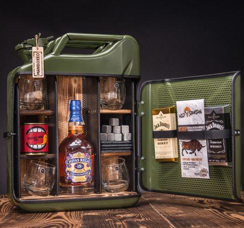 Dočasný Whisky Manboxeo Bar Khaki