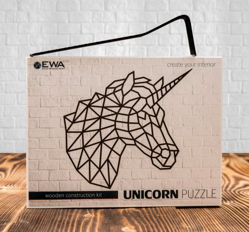 Bedna puzzle Unicorn a Heart