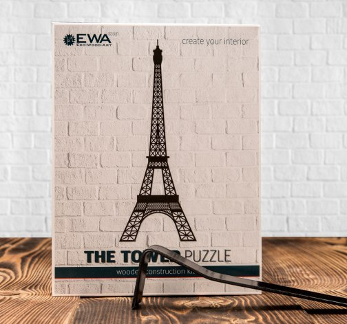 Bedna puzzle The Tower a World Map