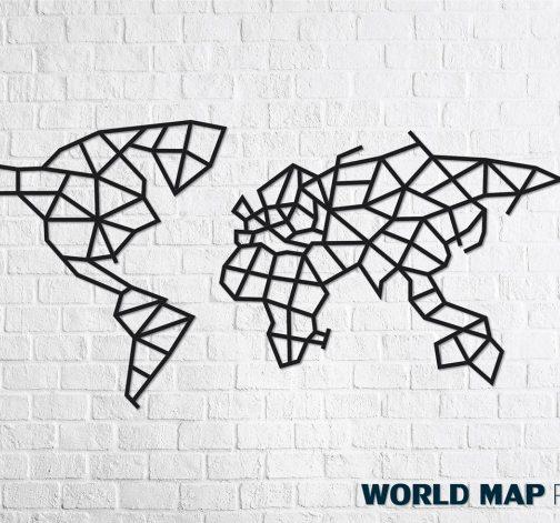 Designové nástěnné puzzle - World Map