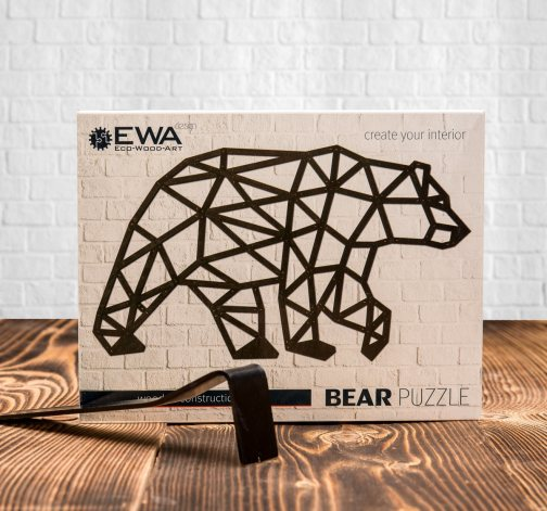 Bedna puzzle Bear a Elephant