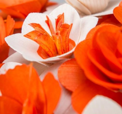 Malá kytice oranžová – 21 ks