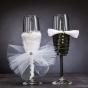 Svatební skleničky pro nevěstu a ženicha