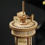 Dřevěný model řídící věže