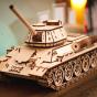 Dřevěný skládací 3D model - Tank T-34