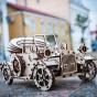 Dřevěný skládací 3D model - Retrocar