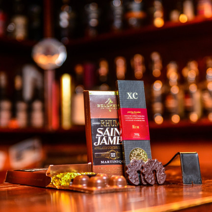 Luxusní čokoládaGoldkenn s náplní rum Saint James 100g