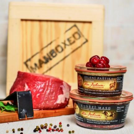 Hovězí maso na drceném pepři210g