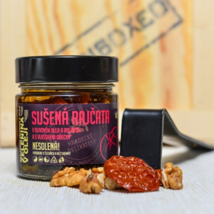 Sušená rajčata volivovém oleji svlašskými ořechy 160g