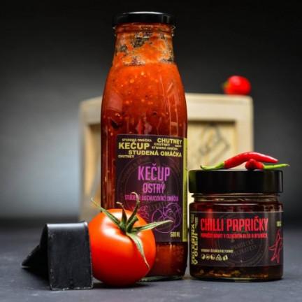 Chilli papričky v olivovém oleji a bylinách 180g