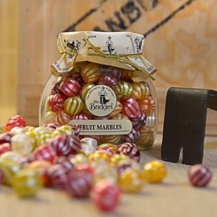 Ovocné bonbony Mrs. Bridgesve skleněné dóze 155g