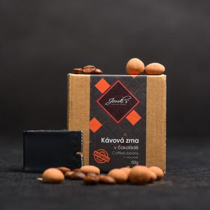 Kávová zrna včokoládě 63% 50g