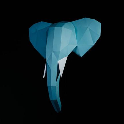 Papírový 3D model – Slon