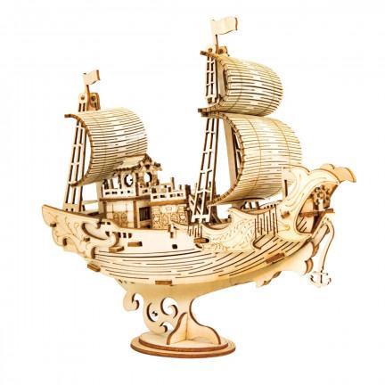 Dřevěná stavebnice japonské lodi