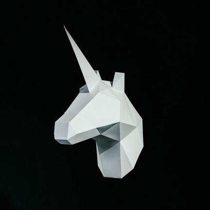 Papírový 3D model – Jednorožec