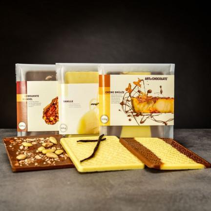 Set tří lahodných čokoládových tabulí