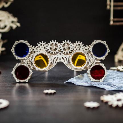 Dřevěné skládací steampunk brýle