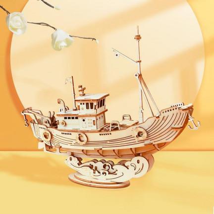 3D stavebnice rybářské lodi